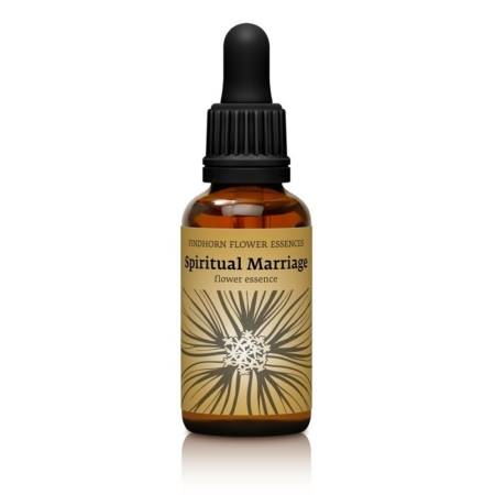 Esencia Floral Spiritual Marriage de Findhorn en botella de 30 ml. Esencia Floral Unión de energia Masculina y Femenina