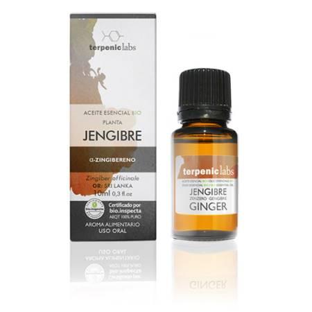 Aceite Esencial Jengibre Bio 10 ml.