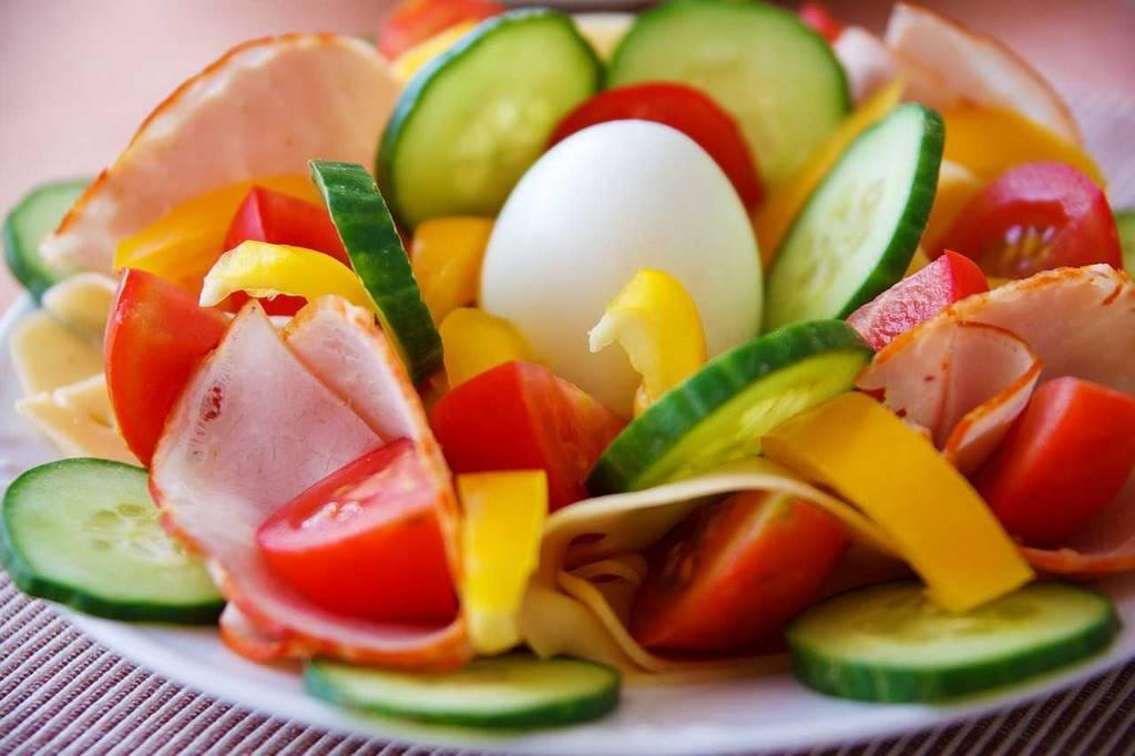 Verduras frescas en las fiestas