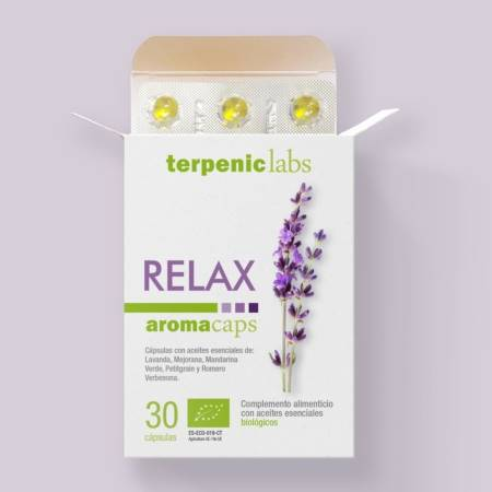 Relax Aromacaps of Essential Oils. Terpenic Labs.